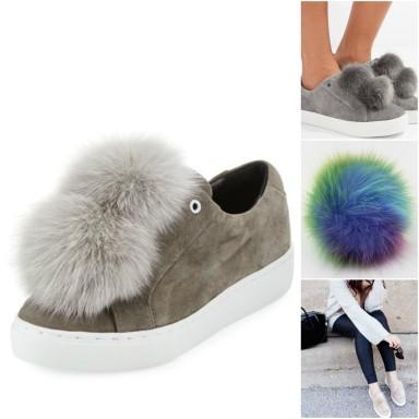 shoe pompom collage