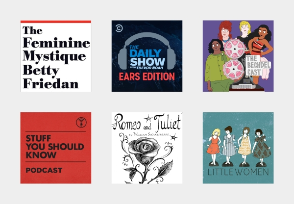 podcasts and books cover